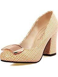 Черный / Белый / Оранжевый - Женская обувь - Для офиса / Для праздника / Для вечеринки / ужина - Материал на заказ клиента / Дерматин -На