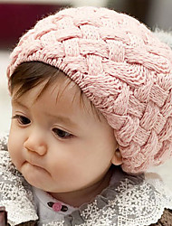 Kid's Lovely Ball Knit Beret Cap