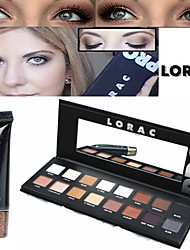 Lorac Pro Cosmetics Makeup Set(16 Colors Luminous Eyeshadow Eye Shadow Palette with Mirror+1PCS Eye Primer Base)