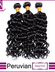 cabelo virgem onda profunda peruano feixes barato malaio onda profunda 100% onda profundamente humano cabelo tecer