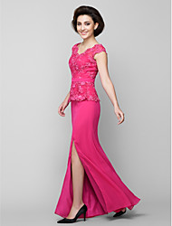 Trumpet/Mermaid Mother of the Bride Dress - Ankle-length Sleeveless Chiffon / Lace