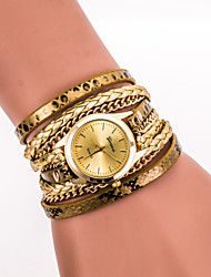 Women's Watch L.WEST Fashion Serpentine Vintage PU Around Quartz Watch Cool Watches Unique Watches