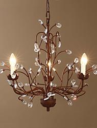 Lustres Luzes Pingente ,  Contemprâneo Tradicional/Clássico Vintage Retro Rústico Pintura Característica for Cristal LED MetalSala de