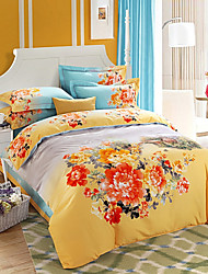 Bedding Set Cotton Twill Upset to Keep Warm Big Edition Flower Bedding Four Pieces
