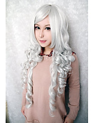 Beautiful Fashion Wig White Color Cosplay Synthetic Wigs