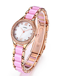 Rose Gold Rhinestone Lady Fashion Watch Women Waterproof Shock Ceramic Band Dress Wristwatch Cool Watches Unique Watches