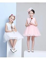 Ball Gown Knee-length Flower Girl Dress - Chiffon Sleeveless