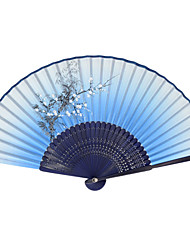 Silk Fans and parasols - 1 Piece/Set Hand Fans Garden Theme / Asian Theme / Floral Theme / Butterfly Theme Lilac / Blue