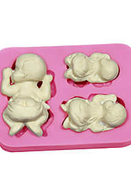 Cute Baby Tummy Christmas Birthday Cake Mold Silicone Cupcake Baking Accessories Soap Mold