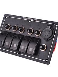 iztoss étanche 5 gangs voiture prise d'alimentation du panneau de l'interrupteur à bascule en aluminium conduit rv