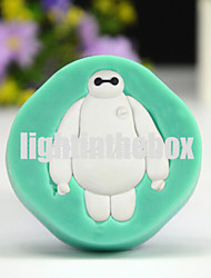 Cute White Robot DIY Silicone Chocolate Pudding Sugar Ice Cake Mold