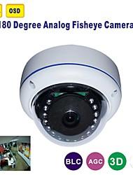 180 grados cámara de infrarrojos de gran angular de 700 líneas de TV