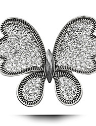 Diamond Wedding Alloy Butterfly Brooch
