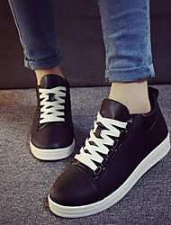 Women's Shoes Leisure Increased Within Dunk Low Flat Heel Comfort Fashion Sneakers Outdoor / Athletic Black / White