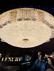 Modern Luxury 60W LED Crystal Ceiling mounted Light Bedroom LED Absorb Dome Light Diameter 50CM