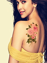 Roses Flower Waterproof Flower Arm Temporary Tattoos Stickers Non Toxic Glitter