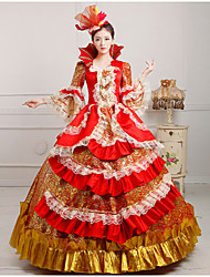 Steampunk®Georgian Red and Gold Printing Victorian Ball Gown Marie Antoinette Wholesalelolita Rococo Dresses
