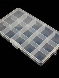 15 compartiments boîte de rangement en plastique de combinaison libre pour les outils matériels