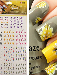 1pcs  Feather Nail Water Transfer Stickers