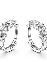 Lureme®  Korean Fashion 925  Sterling Silver Camellia Earrings