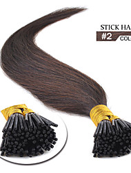 i tip hair extensions dark brown 2# other colours available
