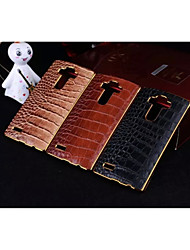 For LG Case Plating Case Back Cover Case Geometric Pattern Hard PU Leather LG