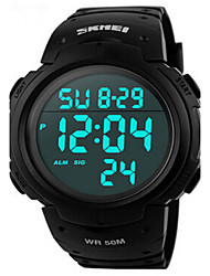 Skmei® 1068 Men's PU Band Outdoor Sports LED Multifunction Wrist Watch 50m Waterproof Assorted Colors Cool Watch Unique Watch Fashion Watch