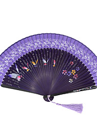 Silk Fans and parasols - 1 Piece/Set Hand Fans Garden Theme / Floral Theme / Butterfly Theme / Classic Theme Blue