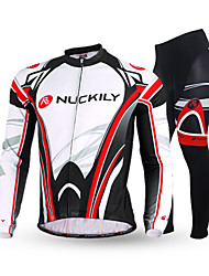 Nuckily Cycling Jersey with Tights Men's Long Sleeves Bike Pants/Trousers/Overtrousers Clothing Suits Thermal / Warm Anatomic Design