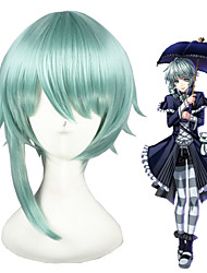 14inch Short Light Green The kingdom of Sleeping and 100 princes Synthetic Anime Cosplay Wig CS-273D