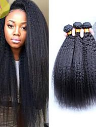 6A Peruvian Virgin Hair Kinky Straight Hair Weave 3Pcs Unprocessed Peruvian Human Virgin Hair Sunny Queen Hair Products