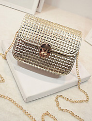 Women Shoulder Bag PU Sling Bag Magnetic Gold White Black Silver