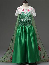 Vestido Chica de - Todas las Temporadas - Poliéster - Verde
