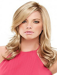 Blonde Color Medium  Syntheic Wave  Wig