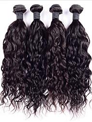"""3pcs muito 6a indiano água onda cabelo virgem 8 """"-30"""" super indiano cabelo crespo cabelo humano tecer"""