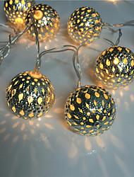 évider 10 lampe, fer forgé batterie de balle chaîne de pack lumière