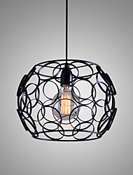 E27 220V 28*21CM 5-10㎡Creative Contracted Nordic, Wrought Iron Glass, Single Head Droplight  Lamp Led Light