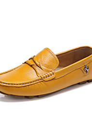 Men's Shoes Casual Leather Loafers Black / Blue / Yellow