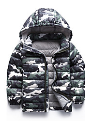 Boy's 100-140cm High Thck Down Padded , Winter Long Sleeve/Zipper/Hat (Hat can be removed)