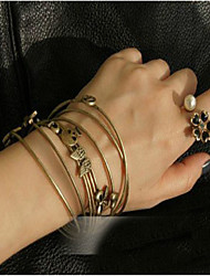 Korea Style Golden Love Cuff Bracelet(1pc)