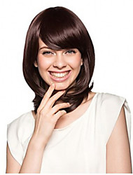 New Arrival Clip in Synthetic Bang with Side Bang Brown Color