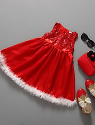 A-line Short/Mini Flower Girl Dress - Chiffon / Sequined Short Sleeve