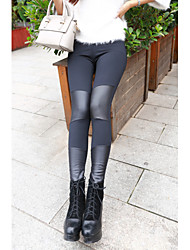 Women's Solid Color Black Pants , Sexy / Bodycon / Casual Mid Rise Skinny