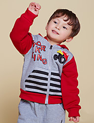 "Boy's Cashmere /Natural Cotton Hoodie Coat 1PC , Winter / Fall Long Sleeve/Fleece Lining""Car"""