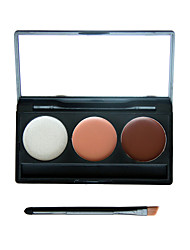 3 Colors Makeup Eyeshadow Camouflage Facial Concealer Neutral Palette Cream