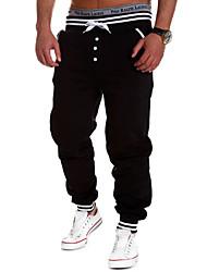 Pantalon de Sport Pour des hommes Couleur plaine Sport Polyester Noir / Bleu / Blanc / Gris
