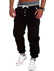 Men's Solid Sport Sweatpants,Polyester Black / Blue / White / Gray