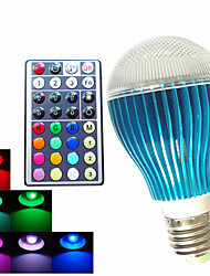 1 pcs SchöneColors GU10/ E26/E27 /B22 9W 450LM RGB A60  Dimmable /32Keys Remote-Controlled /Decorative LED Globe Bulb