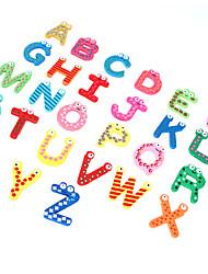 26 Colorful Kids Wooden Alphabet Letter Fridge Magnet Child Educational Toy