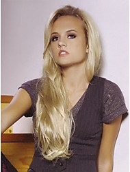 Elegant Long  Synthetic Hair Wave  Wigs Extensions Beautiful Blonde Wig